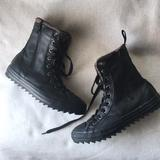 Converse Shoes | Converse Black Leather High Top Winter Boots Youth | Color: Black/Brown | Size: 4b