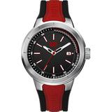 CAT T8 Black/Red Men Watch, 44 mm case, Black face, Date Display, Stainless Steel case, Black/Red Silicone Strap, Black/Red dial (NA.141.28.128) (Red)