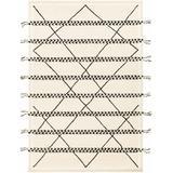 "Calantas 5' x 7'6"" Handmade Moroccan Farmhouse Wool Area Rug - Hauteloom"