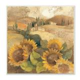 Stupell Home Decor Vintage Tuscan Sunflowers Plaque Wall Art, Brown, 12X12