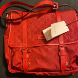 Gucci Bags   Nwt Gucci Nylon & Leather Messenger Bag   Color: Red   Size: Os