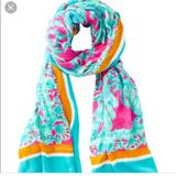 Lilly Pulitzer Accessories   Lily Pulitzer Julie 100% Viscose Scarf Pashmina   Color: Blue/Pink   Size: Os