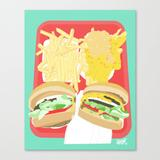 Canvas Print | In-n-out by D-~d-*d-+d---d- D-(tm)d-d-s D-~d - LARGE - Society6