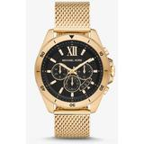 Oversized Brecken Gold-tone Mesh Watch - Metallic - Michael Kors Watches