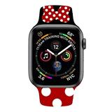 SHOPPOY Mickey & Minnie Mouse Bands for Apple Watch, Fit All iWatch Series, 38mm/40mm/42mm/44mm (Red 2, 38mm or 40mm)