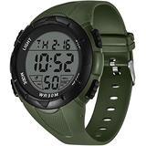 Sports Watch,30M Waterproof Sports Watches for Men, Mens Luminous Sports Smart Watch,Digital Watch,12H/24H Stopwatch Calendar Wrist Watch(Black)