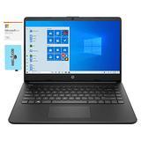 "HP 14s-fq 14 Home and Business Laptop (AMD Athlon Silver 3050U 2-Core, 16GB RAM, 256GB m.2 SATA SSD, AMD Radeon, 14.0"" HD (1366x768), WiFi, Bluetooth, Win 10 Home) with MS 365 Personal, Hub"