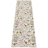 """Meet- fashion Pictures Yoga Mat, Printed Non Slip Yoga Mats Exercise & Fitness Mat for Woman Yoga, Pilates and Floor Exercises (70.8"""" X 24"""" X 0.2"""")-Vintage Espresso Machine Cupcakes Beans"""