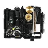 Dheera Emergency Survival Kit, 18 in 1 Professional Defense Tool, Dad Father's Day Birthday Gifts, Survival Gear and Equipment for Adventure Outdoors Sport Camping Hiking Hunting Fishing