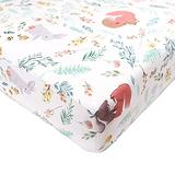 DILIMI Crib Sheet Animals Fitted Crib Sheets for Baby Boys Girls, Ultra-Soft Cotton Blend Crib Sheet Fits Standard Crib and Toddler Mattress