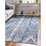Rugs.com Oregon Collection Rug – 2' 2 x 3' Light Slate Blue Low-Pile Rug Perfect for Living Rooms, Large Dining Rooms, Open Floorplans