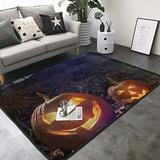 "KasaBlaro Pumpkin Light Print Area Rug Carpet Contemporary Rugs Living Room Dining Area Rugs Room Rugs Office Rugs Modern Rug 80"" X 58"""