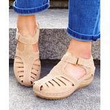 YASIRUN Women's Sandals Khaki - Khaki Perforated Closed-Toe Sandal - Women