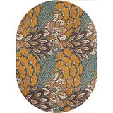 Floral Area Rugs Carpets,Pattern of Flowers and Peacock Feathers Floral Arrangement Artwork Printed Pattern Area Rugs Carpets,6'x 9'Oval,for Accent Rugs Home Bedrooms Floor Decorative