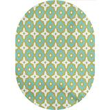 Floral Area Rugs Carpets,Floral Shaped Pastel Toned Ceramic Tile Style Ornate n Mosaic Pattern Printed Pattern Area Rugs Carpets,6'x 9'Oval,for Living Rooms,Large Dining Rooms,Open Floorplans