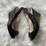 Coach Shoes   Coach Ciara Wedge Peep Toe Sling Back Bows Leather   Color: Black/Brown   Size: 9