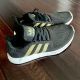 Adidas Shoes | Adidas Black And Gold Sneakers | Color: Black/Gold | Size: 9