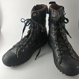 Converse Shoes   Converse Black Leather Zip Sherpa Boots Sz 7   Color: Black   Size: 7 Woman, Junior 5