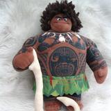 Disney Toys | Disney Moana Maui Demigod W Fish Hook Plush Toy | Color: Brown/Green | Size: Osb