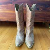 Nine West Shoes | Nine West Pointed-Toe Heeled Cowboy Boots | Color: Brown/Tan | Size: 7.5