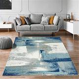 Orren Ellis Light 6X9 Abstract Area Rug Soft & Plush Rug in Blue, Size 109.0 H x 78.0 W x 0.5 D in | Wayfair 0A0F631B574E4845AB553CA8939BDD2B