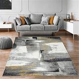 Orren Ellis Grey 9X12 Abstract Area Rug Soft & Plush Rug in Gray, Size 149.0 H x 103.0 W x 0.5 D in | Wayfair 233202C3CBA24DC5A6CE945125F5115F