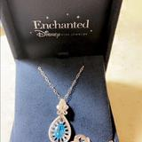Disney Jewelry | Disney Necklace With Charm | Color: Silver | Size: Os