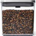 OXO SteeL Frischhaltedose Steel POP, (1 tlg.), rechteckig, 1,6 Liter farblos Aufbewahrung Küchenhelfer Haushaltswaren
