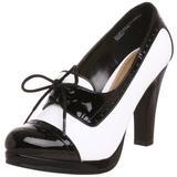 Madden Girl Women's Jonahh Hi Heel Oxford, Black/White, 11 M US