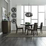 Liberty Furniture Industries Ventura BLVD 5 Piece Pedestal Table Set, Brown