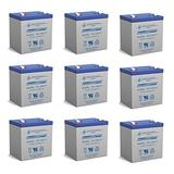 Power Sonic 12V 5Ah APC Smart-UPS 2200VA USB SER, SUA2200RM2U UPS Battery - 9 Pack