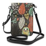 Crossbody Cell Phone Purse Forest Animals Owl Small Crossbody Bags Women Pu Shoulder Bag Handbag
