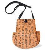 Korean traditional design bag Pouch Mini bag Crossbody bag Casual bag Passport bag Adjustable strap length (orange)
