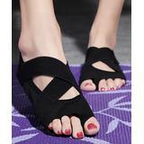 Pattrily Women's Water shoes black - Black Crisscross-Strap Open-Toe Water Shoe - Women
