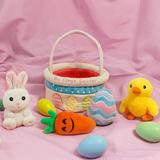 The Holiday Aisle® Ivenf My First Easter Basket Playset, 5Ct Stuffed Plush Bunny Chick Carrot Egg For Baby Girls Boys   Wayfair