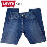 Levi's Jeans   Levis 501 Straight 32x32 Vintage Button Front   Color: Blue   Size: 32