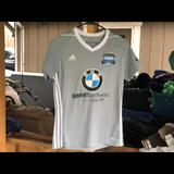 Adidas Shirts & Tops   Adidas V-Neck Youths Gray Soccer T-Shirt Size M   Color: Gray   Size: Mb