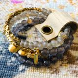 Anthropologie Jewelry   Anthropologie Beaded Wrap Bracelet   Color: Gold/Gray   Size: Os