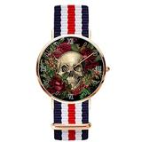 Gothic Glam Magnet Skull Roses Wrist Watches Simple Gold Dial Men Quartz Watches for Business Casual Wrist Watch for Women