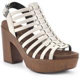 Astonish Platform Block Heel Sandal - Natural - White Mountain Heels