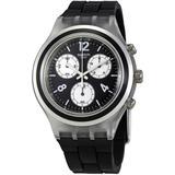 Eleblack Chronograph Black Dial Watch - Black - Swatch Watches