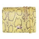 Girly Handbags Womens Snake Skin Mini Clutch Bag Yellow