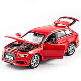 DXZJ 1:32 for Audi RS6 Car Model Alloy Car Die Cast Toy Car Model Pull Back Children's Toy Collectibles (Color : Red)