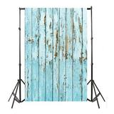 East Urban Home Vinyl Wood Wall Floor Photography Studio Prop Backdrop Background 3X5ft C Polyester in Blue, Size 59.0 H x 35.4 W in | Wayfair