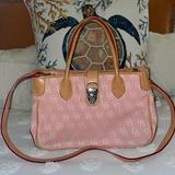 Dooney & Bourke Bags | Dooney Bourke Satchel | Color: Pink/Tan | Size: Os