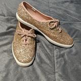 Kate Spade Shoes | Kate Spade Rose Gold New York Glitter Keds | Color: Gold/Pink | Size: 8.5