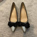 J. Crew Shoes   J Crew Silver Kitten Heels   Color: Black/Silver   Size: 8.5