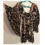 Free People Dresses | Free People Floral Babydoll Dress | Color: Black/Pink | Size: Xs