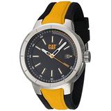 CAT T8 Black/Yellow Men Watch, 44 mm case, Black face, Date Display, Stainless Steel case, Black/Yellow Silicone Strap, Black dial (NA.141.27.127) (Black/Yellow)