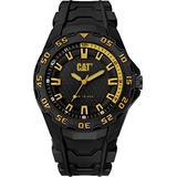 CAT Motion 2020 Black Men Watch, 45.5 mm case, Polycarbonate case, Black Rubber Strap, Black/Yellow dial (LH.110.21.127) (Black/Yellow)